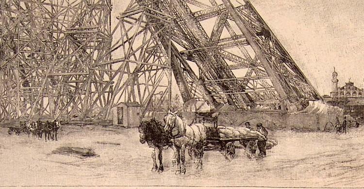 Construcción de la Torre Eiffel (Flickr)