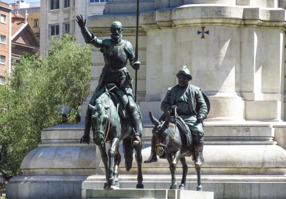 Statues of Don Quijote and Sancho Panza