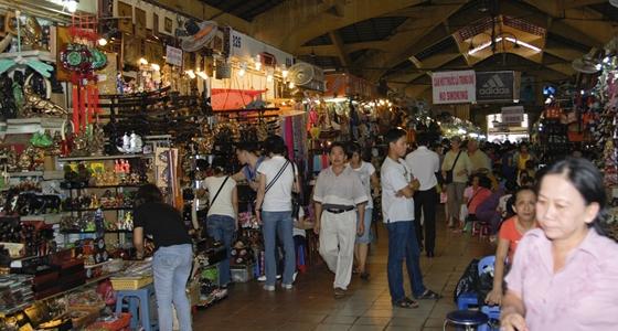 Inside Ben Thanh market.