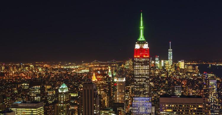 Luces en el Empire State (iStock)