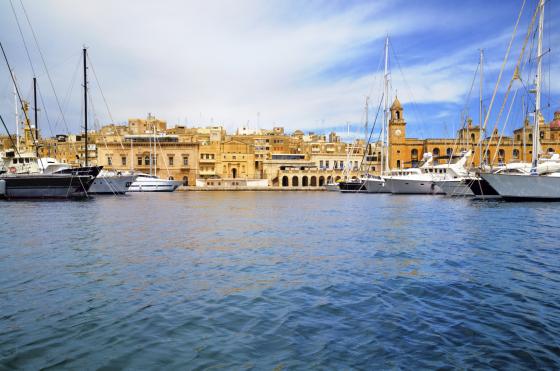 Marina in Vittoriosa, Valetta Bay, Malta