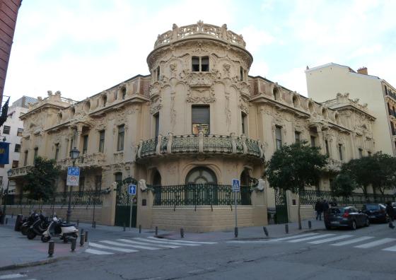 Palacio Longoria in Madrid (Spain). Built in 1904. Architect: Josep Grases.