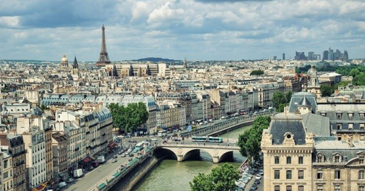 Eleveted view of Paris