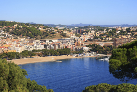 Sant Feliu de Guixols beach (Costa Brava, Spain)