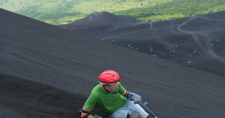 Cerro Negro en León, en Nicaragua