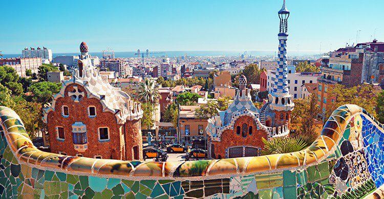 Las vistas de Barcelona desde el parque son espectaculares
