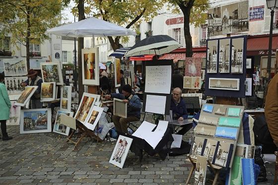 Place du Tertre o Plaza de los Pintores en París