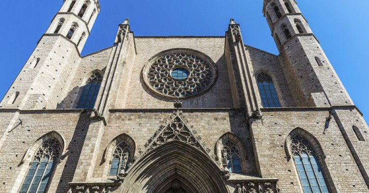 Santa Maria del Mar cathedral in Barcelona