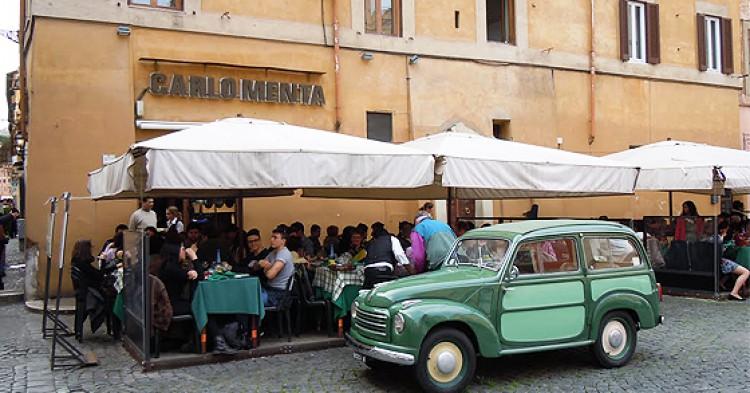 Carlomenta, uno de los restaurantes más baratos y buenos de Roma.