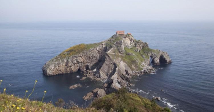 Island Gaztelugatxe on the coast of Biscay