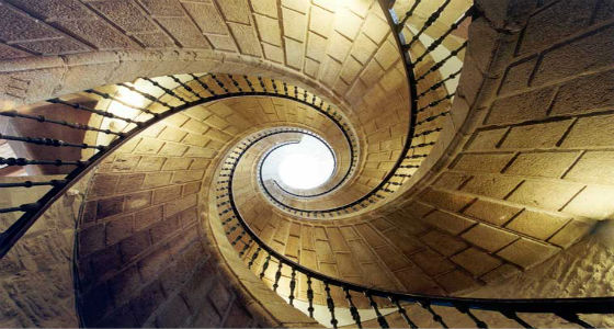 escalera pueblo gallego