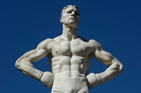 boxer modern sculpture
