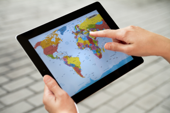Using World Map on Apple Ipad2