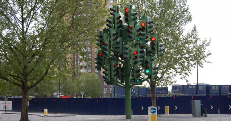 Traffic Light Tree, en Londres. Magnus D (Flickr).