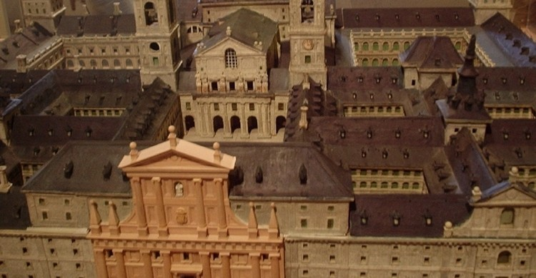 Maqueta del monasterio. Victoria Rachitzky Hoch (Flickr)