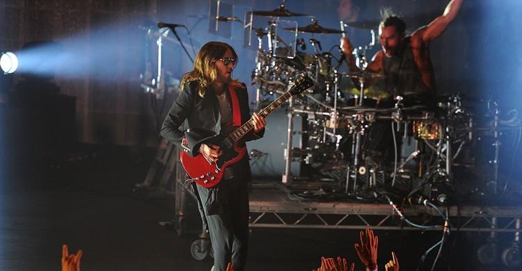 Jared Leto lidera el grupo 30 Seconds to Mars. Mark Allen (AP Hoto)
