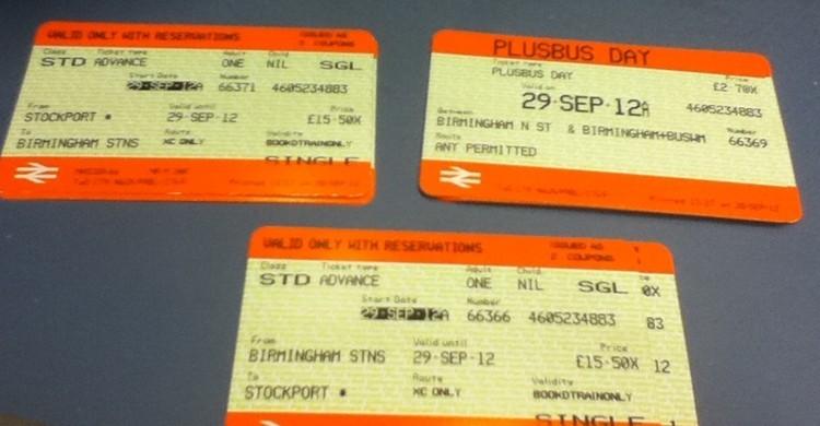 Billetes de tren. Mikey (Flickr)