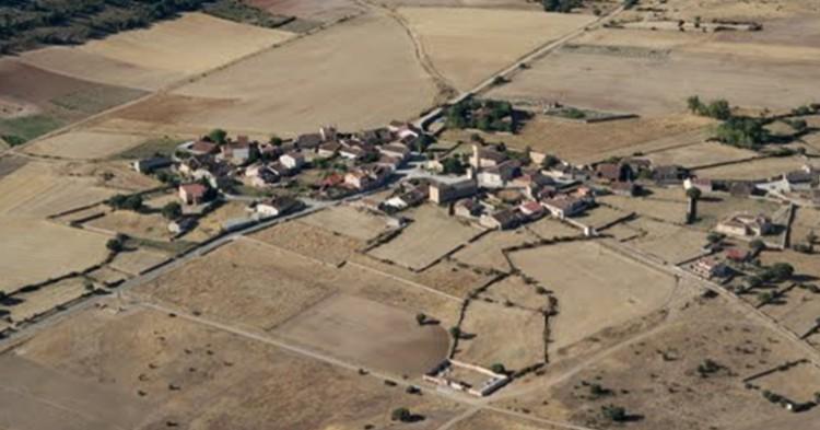 Vista aérea de Arahuetes. R.Melgar (Ayuntamiento de Arahuetes)