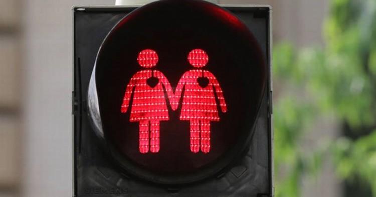 Semáforo 'gay' de Viena.