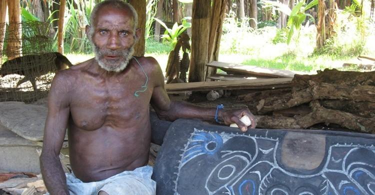 Aborigen de Papúa Nueva Guinea. David Bacon (Flickr).