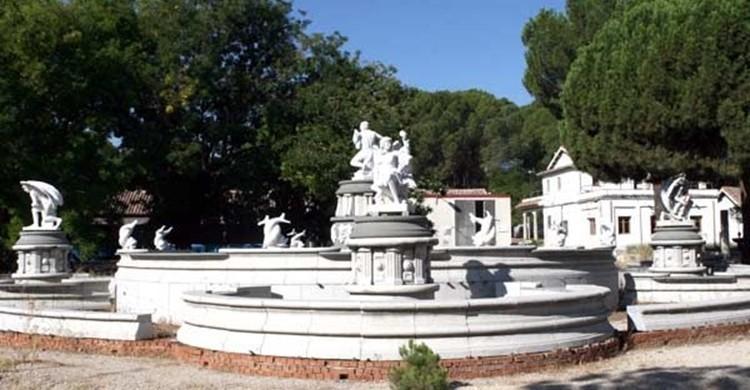 Imagen de la fuente, guardada en el taller de cantería de Madrid. (Google).