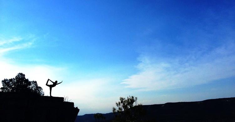 Yoga en el hotelito rural La Batra
