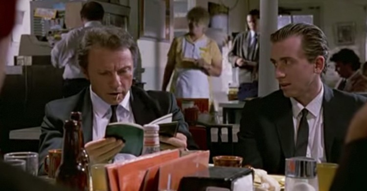 Pat & Lorraine's Coffee Shop. Fotograma de Reservoir Dogs
