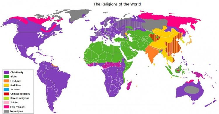 Mapa por religiones