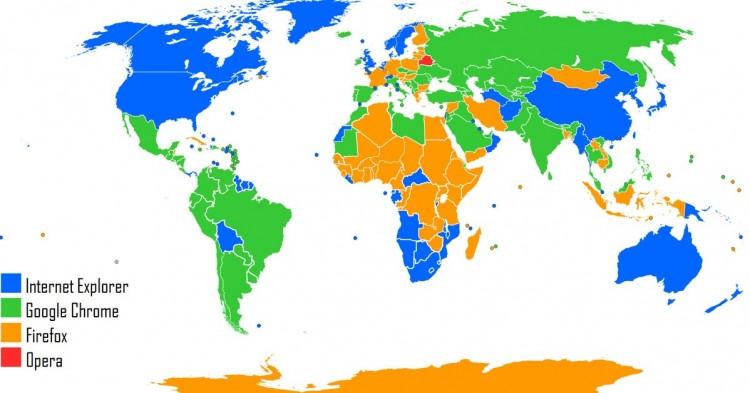 Navegadores web por países (Deviantart)
