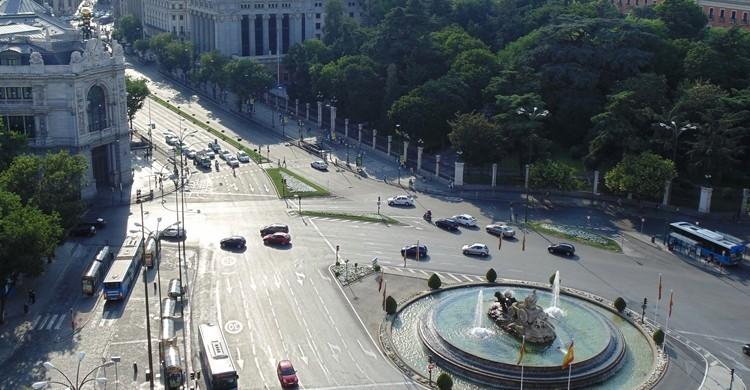 Cibeles y el Banco de España, en la esquina superior izquierda. M.Peinado (Flickr).