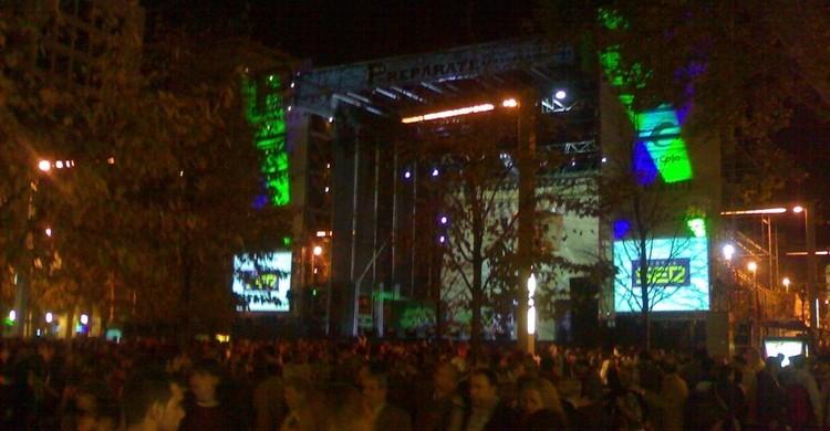 Aspecto de uno de los conciertos gratuitos durante las fiestas. Javier Vte Rejas (Flickr).