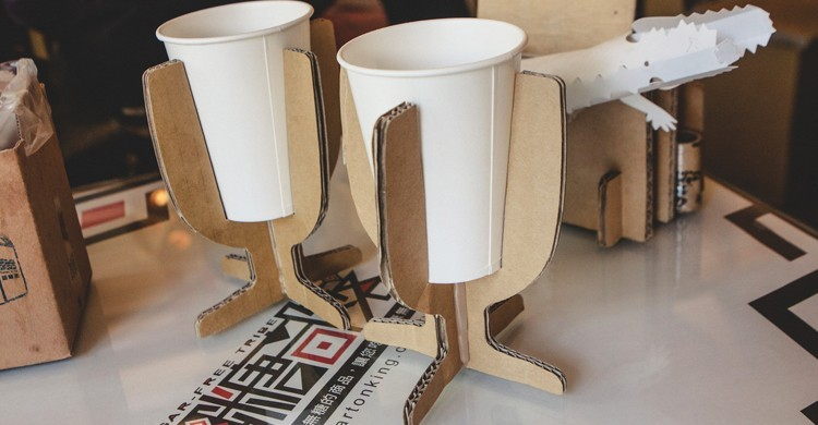 Recipientes para vasos del Carton King. Jirka Matousek, Flickr