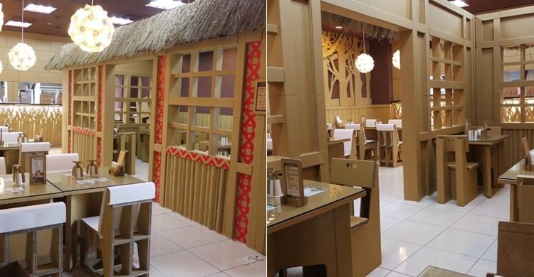 Comedor del restaurante Carton King, Taichung.