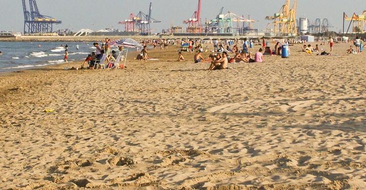 Playa de la Malvarrosa, Valencia (Flickr)