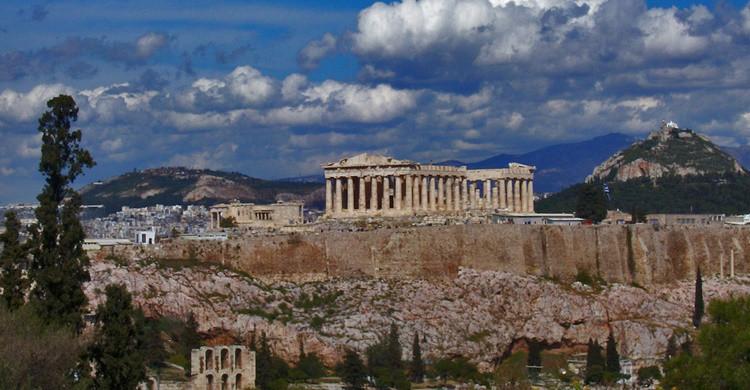 Vista de la Acrópolis de Atenas, con el Partenón destacando sobre el resto. Amaianos (Flickr)