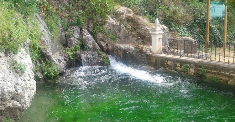 Nacimiento del Río Cabra en el paraje de la Fuente del Río. Wikibrense (Wikipedia).
