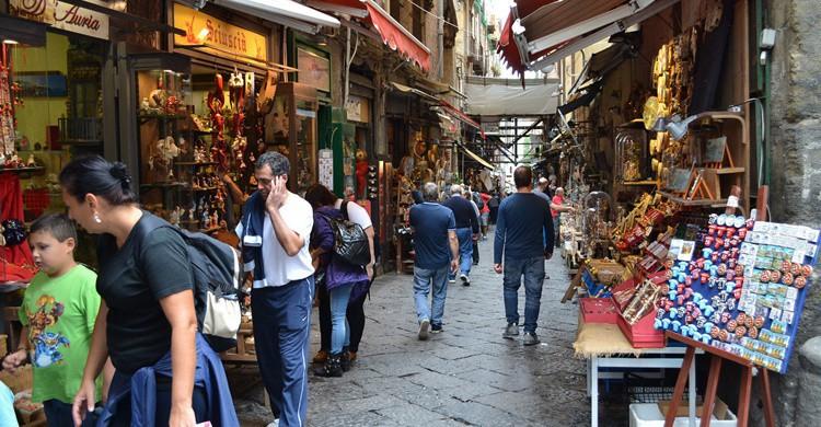 Imagen de la calle San Gregorio Armeno. Giuseppe Guida (Flickr)