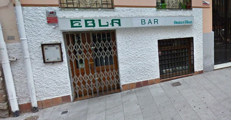 Fachada del restaurante Ebla. Google Maps