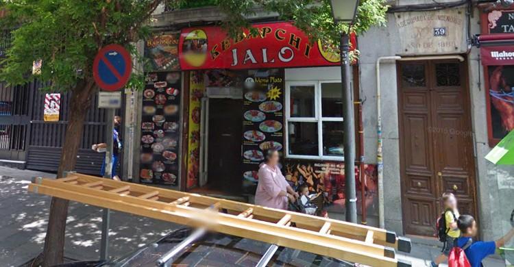 Fachada del Kebapchi Jalo. Google Maps