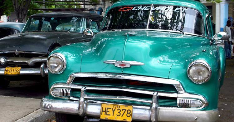 Uno de los coches antiguos característicos de La Habana