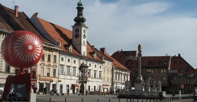 Imagen de una de las plazas más céntricas de Maribor. Daniel Thornton (Flickr)