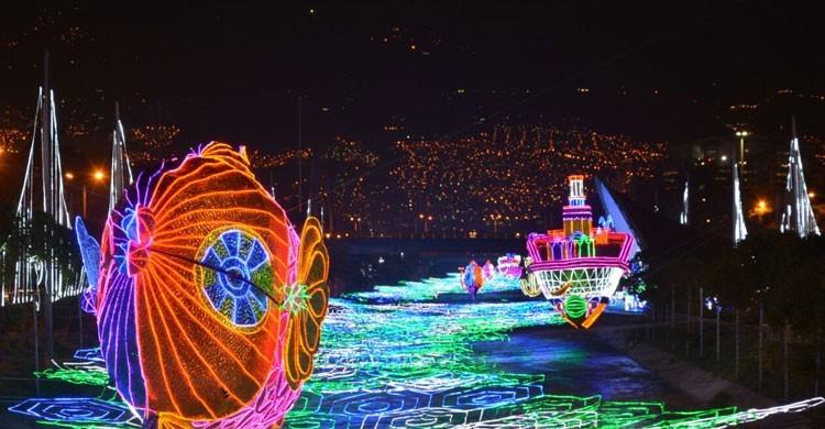 La impresionante decoración navideña de Medellín (Fuente: medellin.gov.co)
