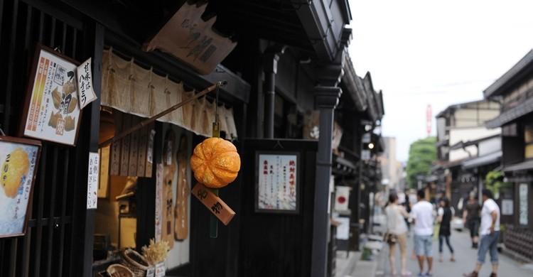Calle principal de la zona vieja de Takayama. Bong Grit (Flickr)