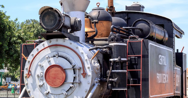 Antigua locomotora de La Habana (iStock)