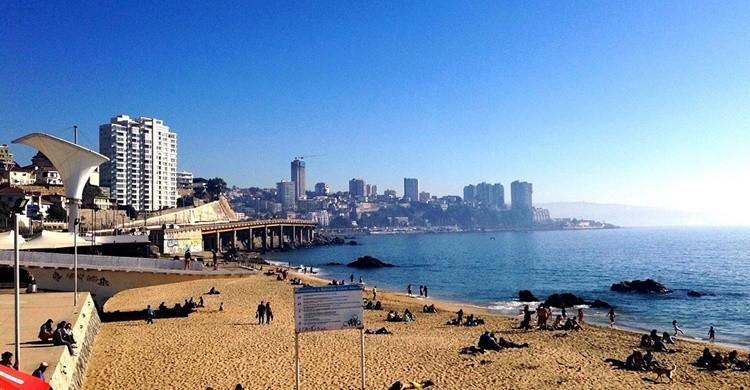 Vista de una de las playas de Viña del Mar. gabriel.gondim97 (Flickr)