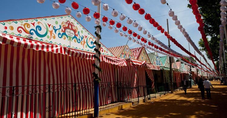 Casetas en la Feria de Abril. G V (Flickr)