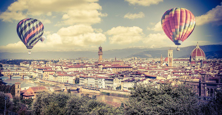 Vista de Florencia desde un globo aerostático. Andrés Nieto Porras (Flickr)