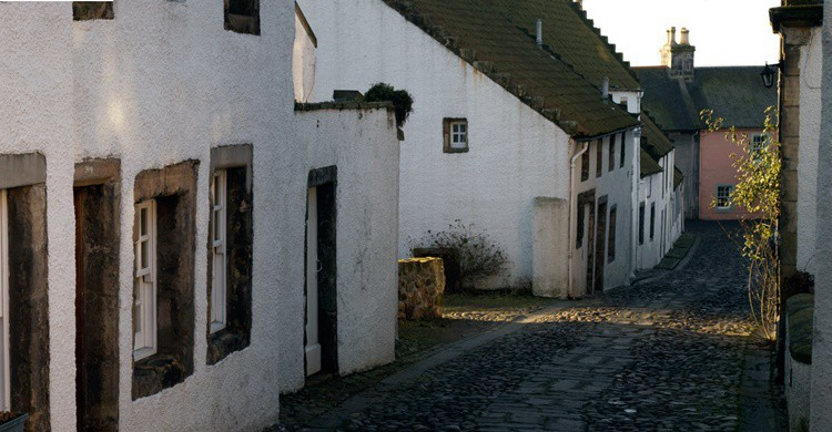 Típica calle adoquinada de Culross. stu smith (Flickr)