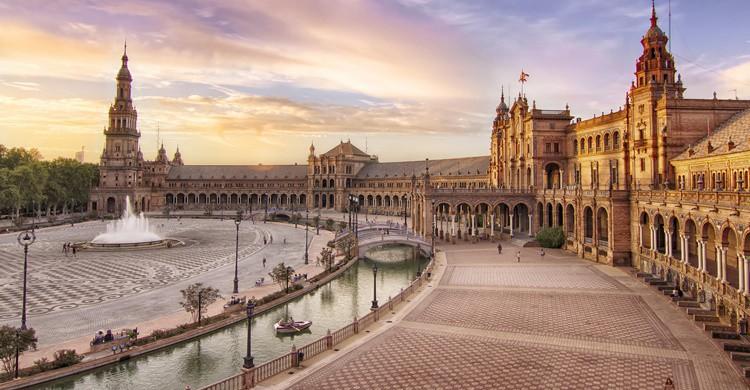 Plaza de España en Sevilla. Francisco Colinet (Flickr)