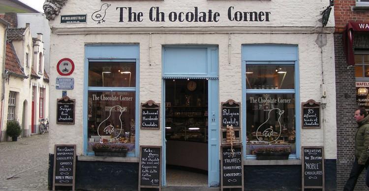 Tienda de chocolates en Brujas. Kristina D.C. Hoeppner (Flickr)